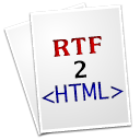 RTF2HTML is part of Text Editors, plain and simple