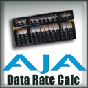 AJA Data Rate Calculator logo