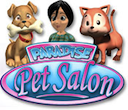 Logo for Paradise Pet Salon