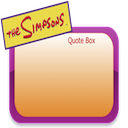 Logo for The Simpsons Quote Box