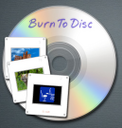 BurnToDisc for Aperture logo