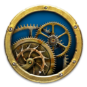 Mechanical Clock 3D logo