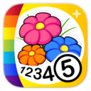 Color by Numbers - Flowers logo