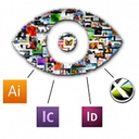 ADOView for InDesign logo