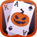 Solitaire Game Halloween logo