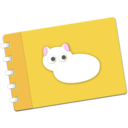Scrapbook with Neko logo