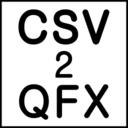 CSV2QFX icon