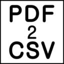 PDF2CSV icon