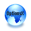 Logo for OptionsX for OSX