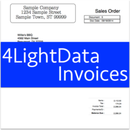 Logo for 4LightData Invoices