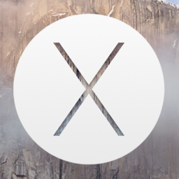 Logo for OS X Yosemite Wallpaper