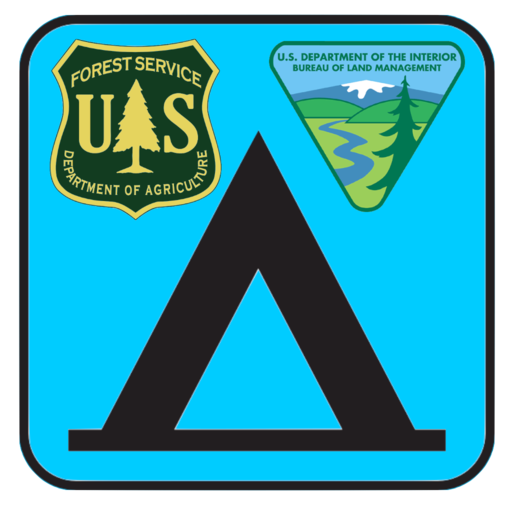 Logo for USFS and BLM Campgrounds