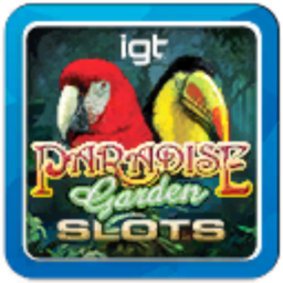 Logo for IGT Slots Paradise Garden