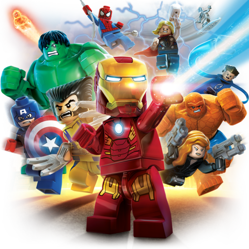 Logo for LEGO Marvel Super Heroes