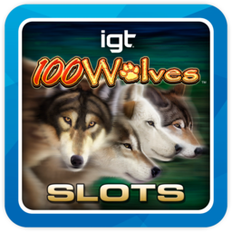 Logo for IGT Slots 100 Wolves