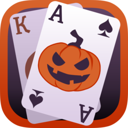 Logo for Solitaire Game Halloween