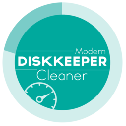 Logo for DiskKeeper: Cleaner - Modern