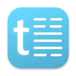 Logo for TelepaText - editor, speech