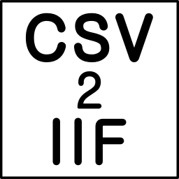 Logo for CSV2IIF