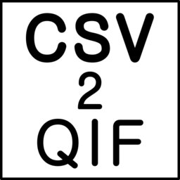 Logo for CSV2QIF