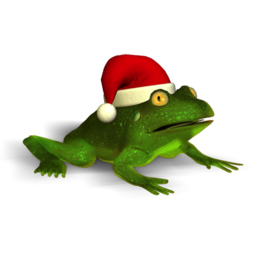 Logo for Christmas Super Frog